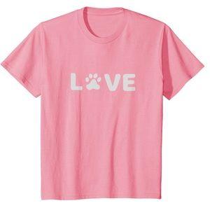 Kids Love Dogs Paw Print T-shirt